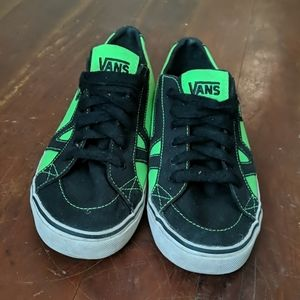 Lime green and black Vans